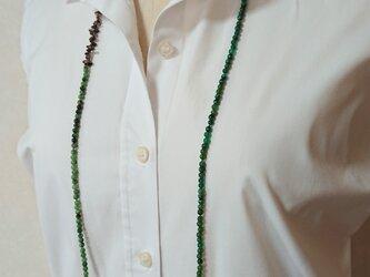 グリーンメノースモーキークオーツネックレスの画像