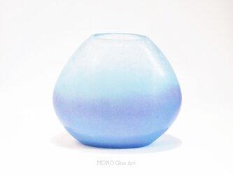 暁 | 花器(桐箱入)【オリジナル・一点もの | パートドヴェールガラス花瓶】の画像