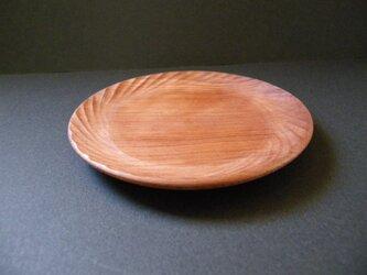 木彫り コースター 小皿 スギ 神山杉 <太陽>の画像