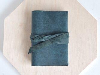あお・ベルトの手帳カバー (A6・文庫サイズ)の画像