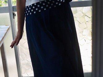 しじら織と久留米絣のセットアップの画像