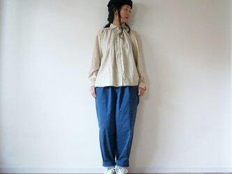 Cotton twill gather shirtの画像