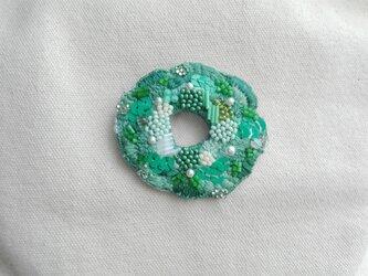 刺繍ブローチ GREEN GARDENの画像