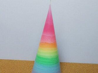虹色のレイヤーキャンドルの画像