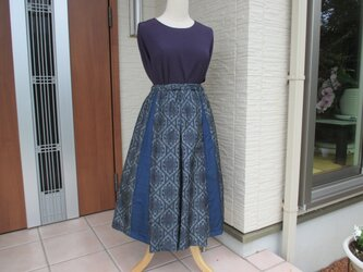 着物リメイク  箱ひざスカート 再出品登録ご遠慮願います。の画像