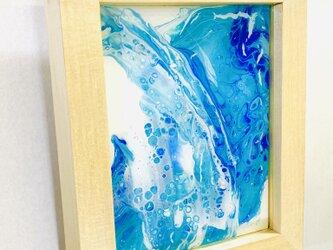 (青#2)フルイドアートクラフト・タブローの画像