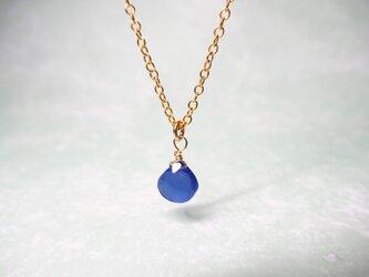ネイビーブルー・カルセドニーのネックレス [送料無料]の画像