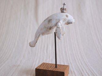 受注制作 マナティ 塑像の画像