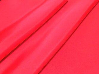 正絹 羽二重 胴裏地 はぎれ 赤 紅絹 50cmの画像
