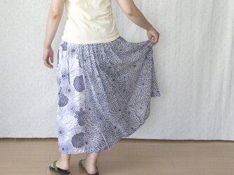 ガーゼ浴衣の巻きスカートの画像