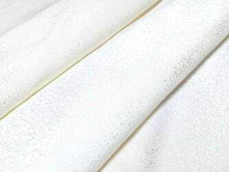 正絹 着物地 はぎれ【霞模様織り出し】白生地 50cmの画像