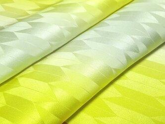 正絹 長襦袢地 はぎれ【矢絣模様】黄色・グレー暈し 50cmの画像