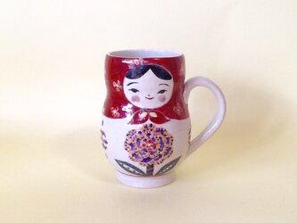 マトリョーシカ*手付きカップ*花びんの画像