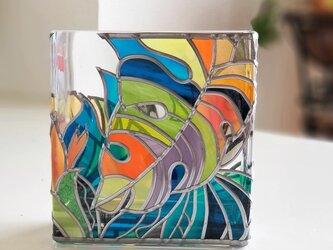 スクエアガラス花瓶『南ぬ島(ぱいぬしま)』の画像