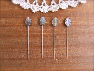 シェルビースの待ち針 4本セット 黒蝶貝の画像