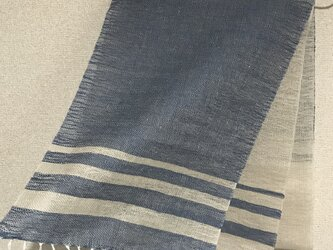 手織りリネンストール SU9の画像