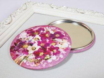 まんまる手鏡【クリスマスローズの花束を】の画像