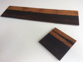 黒柿のコースター 摺漆【送料無料】の画像