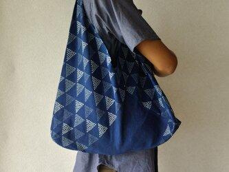 藍染あずま袋(うろこ)の画像