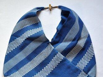 藍染あずま袋(ボーダー)の画像