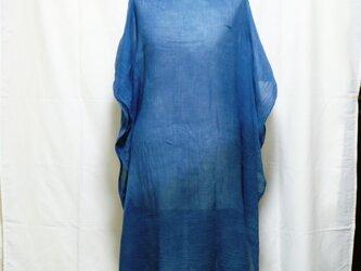 木藍染めポンチョストールの画像