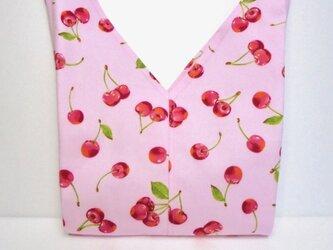 さくらんぼ(ピンク) あずま袋 お弁当入れの画像