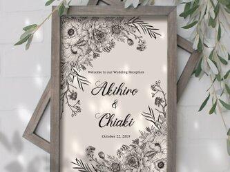 【Botanical art】ウェルカムボード 結婚式の画像