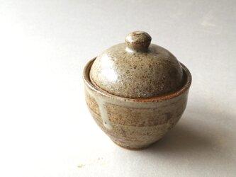 マット灰釉 蓋物(小)の画像