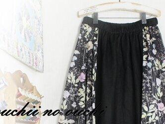 しっとりリネン100♡リバティサイド マキシ風ロングギャザースカート♪の画像
