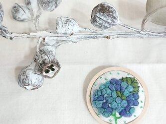 ボタニカルブローチ(紫陽花)の画像