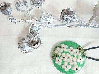 ボタニカルゴム(白の紫陽花)の画像