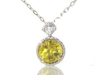 K18 スフェーン×ダイヤモンド ペンダント K18ホワイトゴールド クルール BN0844CIの画像
