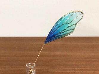蝶の片羽ハットピン - 蒼穹 -の画像