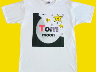 【受注生産】破れた月~オリジナルイラストTシャツ(白)の画像