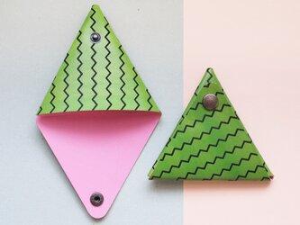 すいか ) 本革 三角 コインケース 小物入れの画像