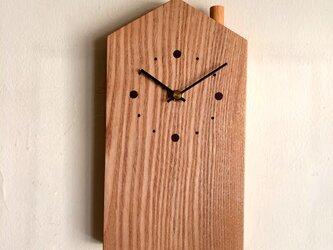 掛け時計 おうち タモの画像