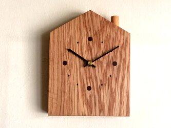 掛け時計 おうち オークの画像