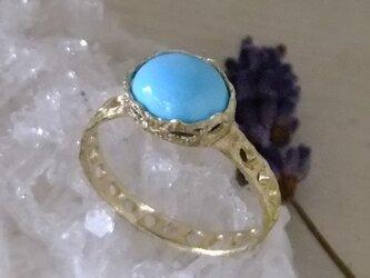 turquoise*925/K18gp laceringの画像
