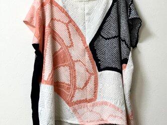 再販 ラスト一枚 正絹 総絞り プルオーバーの画像