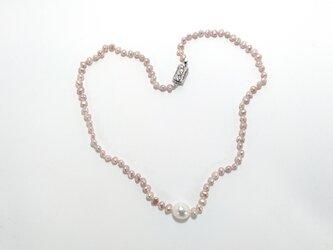 淡水真珠ネックレスの画像