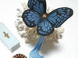 蝶のかんざし(小)アサギマダラの画像