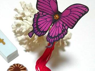 蝶のかんざし(小)アゲハの画像