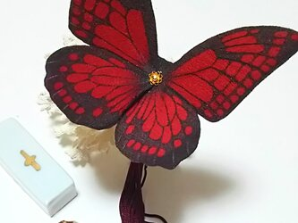 蝶のかんざし(大)アサギマダラの画像