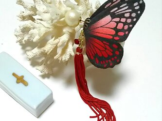 蝶のピアス 大 (アサギマダラ)の画像