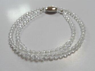 カット水晶 4mm玉 ネックレスの画像