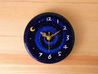 Night Clock 月と星の掛け時計 N4の画像