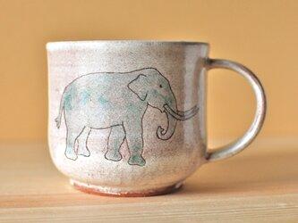 粉引 Elephant cup ゾウのマグカップの画像