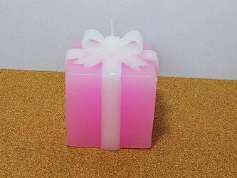リボン付キャンドル(ピンク)の画像