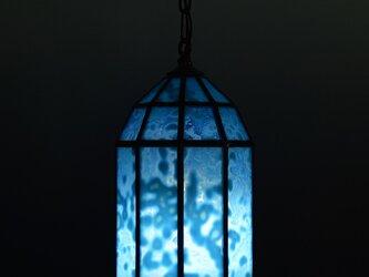 露草色のランプシェードの画像