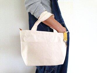 倉敷帆布ファスナー付きミニトートバッグ-ちょっとお出かけ&会社内用などにの画像
